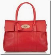 Mulberry Bayswater Red Handbag