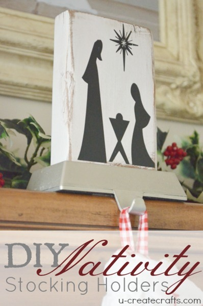 DIY Nativity Stocking Holders u-createcrafts.com