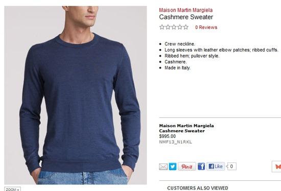 Margiela Neiman Marcus Sweater copy