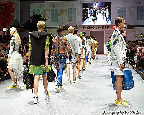 MCM RAIN Fashion Week 2013 Fide Store opening Marina Bay Sands Sung Hoon Spring Summer 2014 Fashion Show Flower Boys In Paradise MCM Bags backpack handbag totebag clutch wallets briefcase shoes jackets blazer