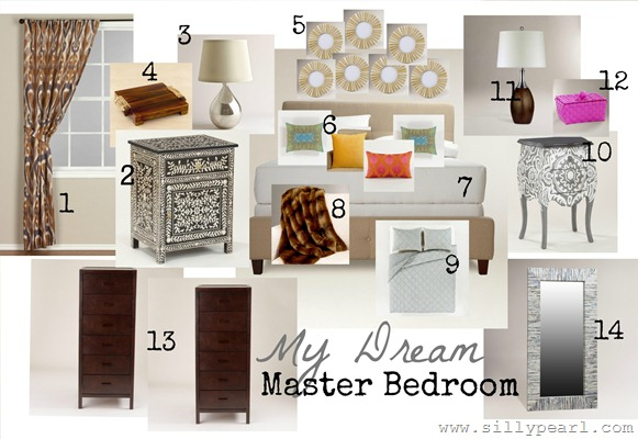 My Dream Master Bedroom Inspiration Board - World Market and HGTV Sweepstakes