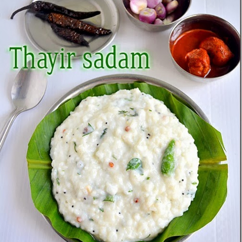 CURD RICE RECIPE / THAYIR SADAM / BAGALA BATH RECIPE
