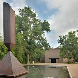 Broken Obelisk by Barnett Newman, 1963Cor-ten steel, permanent installation.Rothko Chapel, Houston, Texas