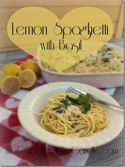 Lemon Spaghetti with Basil from TheOtherEndOfTheCandle.com