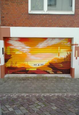 Garage bemalt