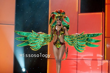 Miss St. Lucia 2011, Joy-Ann Biscette pre-tapes in her National Costume onstage at Credicard Hall on September 7, 2011. She is preparing to compete in the 2011 MISS UNIVERSE® Competition on September 12 at 9:00 p.m. ET broadcast LIVE on NBC from Credicard Hall in São Paulo, Brazil. Vote your favorite contestant into the semifinals on http://missuniverse.com/members/contestants. HO/Miss Universe Organization, L.P. LLLP