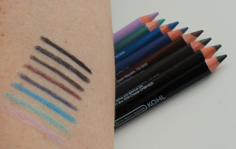 British-Beauty-Blogger-M&S-eye-liner-pencil-set-swatches