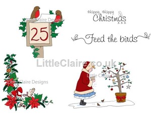 Little Claire - feed the birds