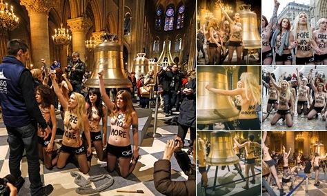 """Просмотр альбома """"Акция FEMEN в соборе Парижской Богоматери. Февраль 2012"""""""
