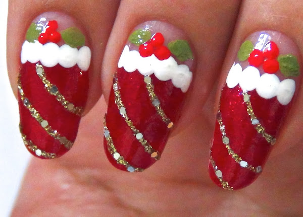 Easy Christmas Nail Art Designs Nail Design For Christmas