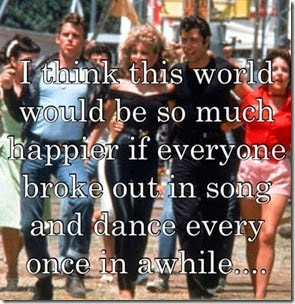 break out in song