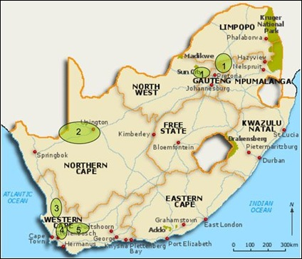 GRAPE PRODUCING AREAS SOUTH AFRICA