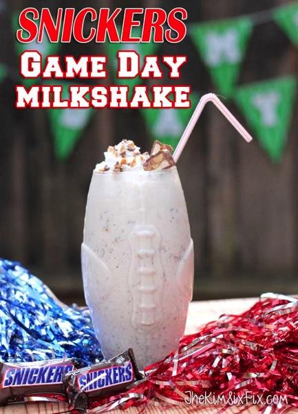 Snickers Game Day Milkshake
