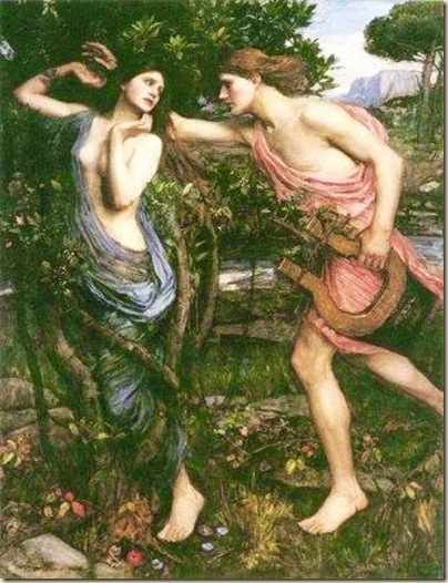 Apollon et Daphnée John William Waterhouse.