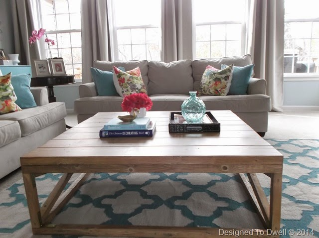 DIY Coffee Table & Moroccan Rug