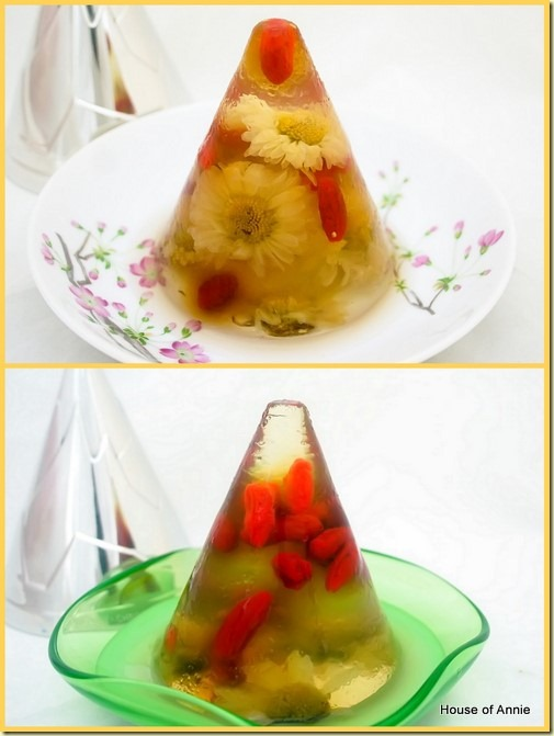 Chrysanthemum Jellies with Goji Berries