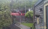 Onze achtertuin nu... (met puttenzuiger...)