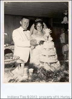 Wedding of Marilyn Niehaus and Jerry Schuster.