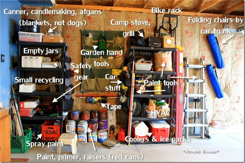 labled garage storage