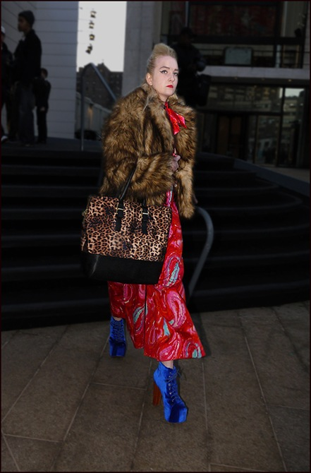 w leopard bag red print dress blue velvet jeffery campbells fur jacket 2 ol