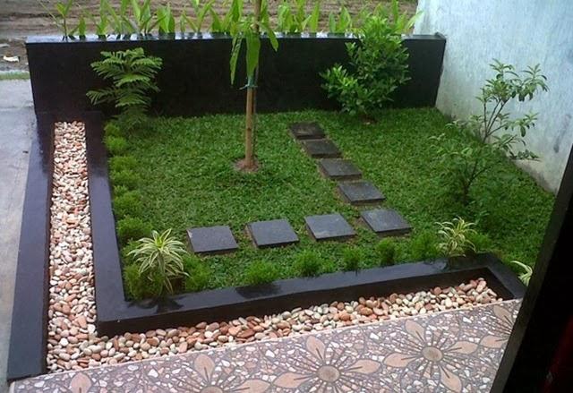 taman minimalis di lahan sempit