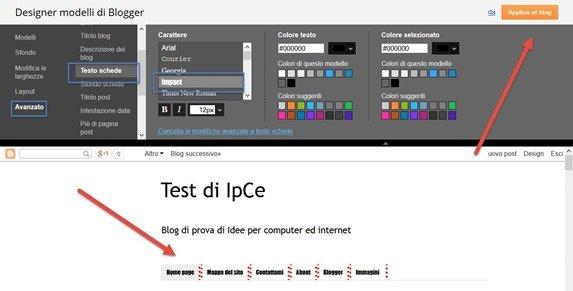 cambiare-font-menu-pagine
