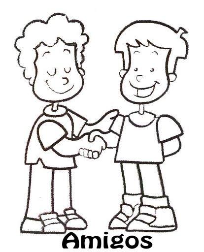 Imagen para colorear de dos personas hablando - Imagui