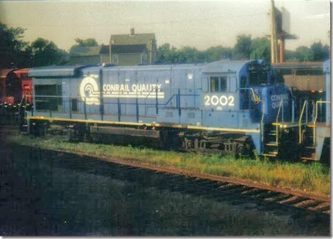 Conrail B23-7 #2002 in St. Paul, Minnesota in September 2002