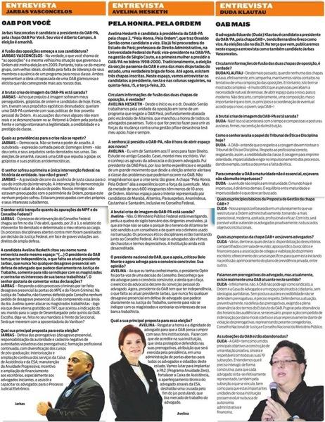 Diário do Pará  Eleições OAB Entrevista Candidatos  Mauro Bonna
