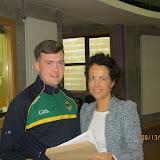 Principal Ms Temple congratulating Conor Donerty.JPG