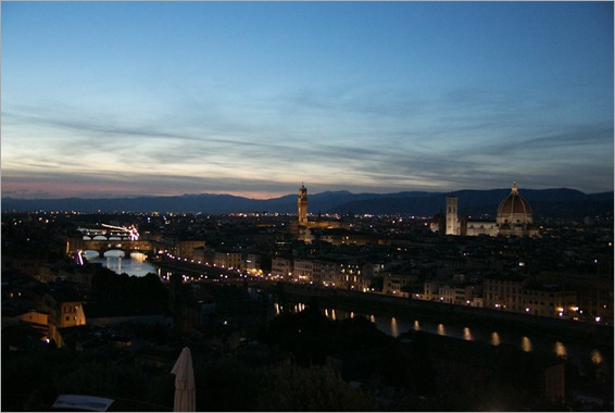 Florence Sunset before