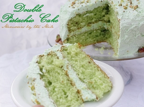 Double Pistachio Cake and Frosting - Memories By The Mile