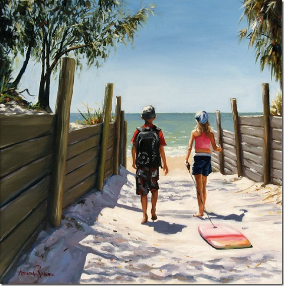 day at the beach - 2012 - 40x40cm
