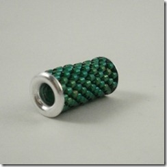 eyelet bead green
