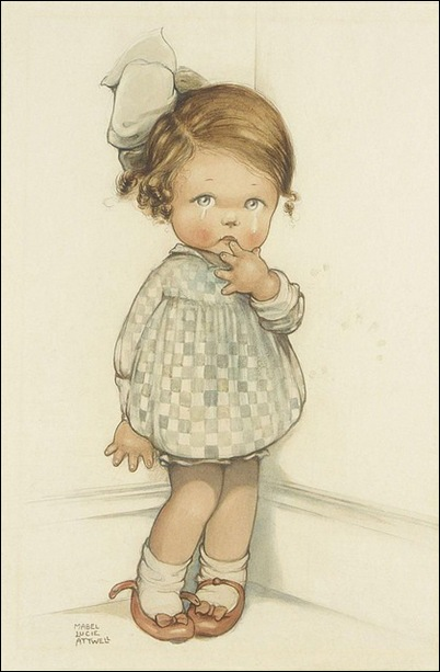 Mabel Lucie Attwell - crying Girl