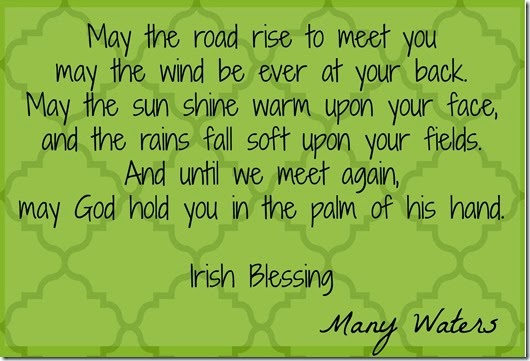 Many Waters Irish Blessing