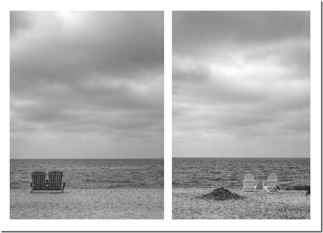 Chairs on the Beach diptych
