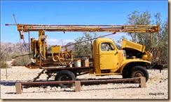 Drilling truck.