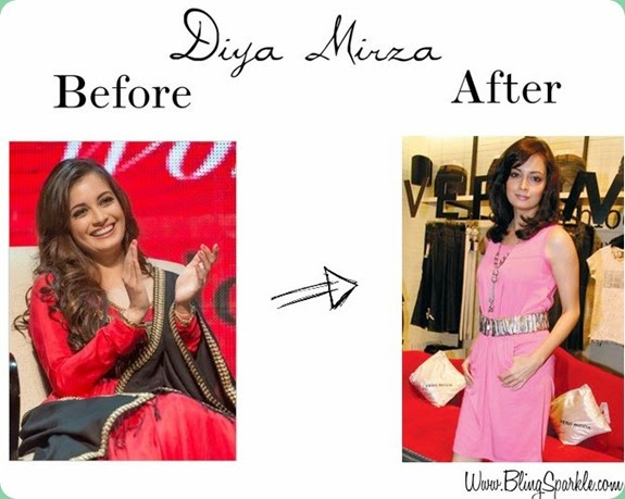 diya mirza short new hair cut