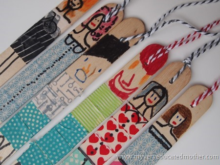 Bookmark People Close Up #backtoschool #craftingwithkids #craftlightning