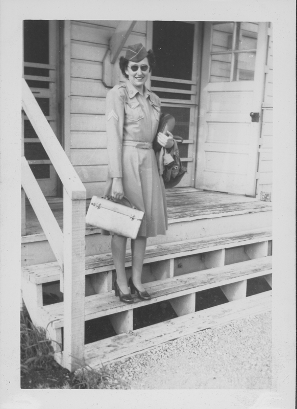 Esther Herbert just before she left Chanute miilitary base. July 1945.
