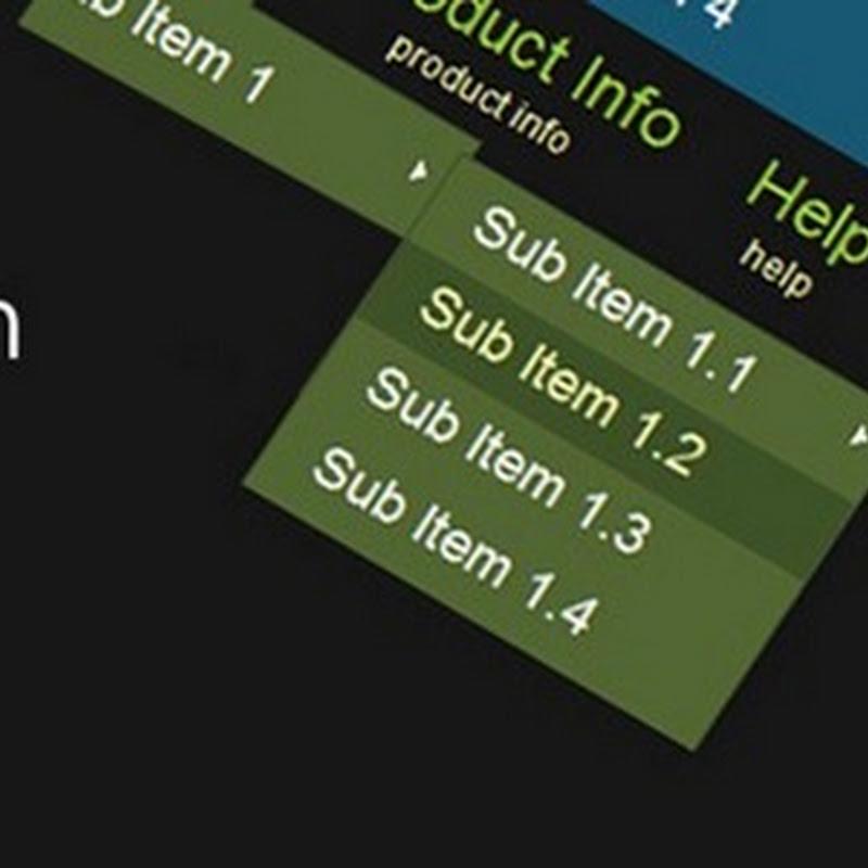 Hướng dẫn cách làm thanh menu đa cấp với HTML5 và CSS3 từng bước đơn giản