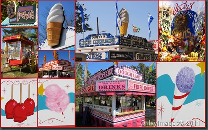 snack sign collage