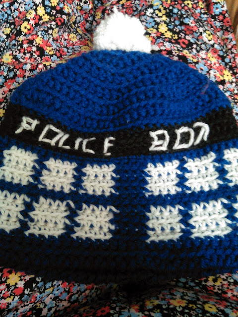 Kendras Crocheted Creations Dr Who Tardis Hat Pattern