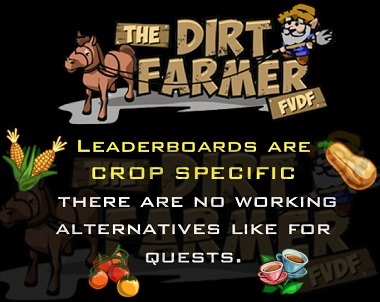 Farmville Leaderboards Crop Specific