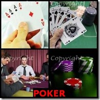 POKER- 4 Pics 1 Word Answers 3 Letters