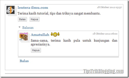 Modifikasi Treaded Comment Versi 2