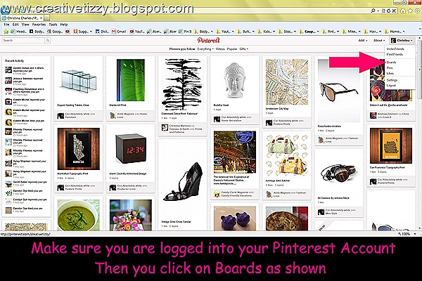 Pinterest LogInClickBoards
