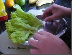 Preparando salada - Delícias Frugais