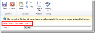 SharePoint 2010 column Validation
